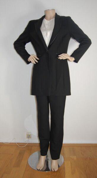 *** Robell *** Costume Da Donna Vestito 2 Pezzi Business Long Blazer + Pantaloni Vestito E Avere Una Lunga Vita
