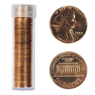 50 US Coins 1961 Gem Proof Lincoln Cent Roll