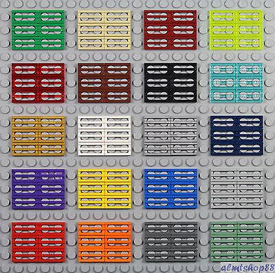 4619636 *NEUF* LEGO LOT 50 X PLATE 1X2 GRILLE SILVER METALLIC REF 2412