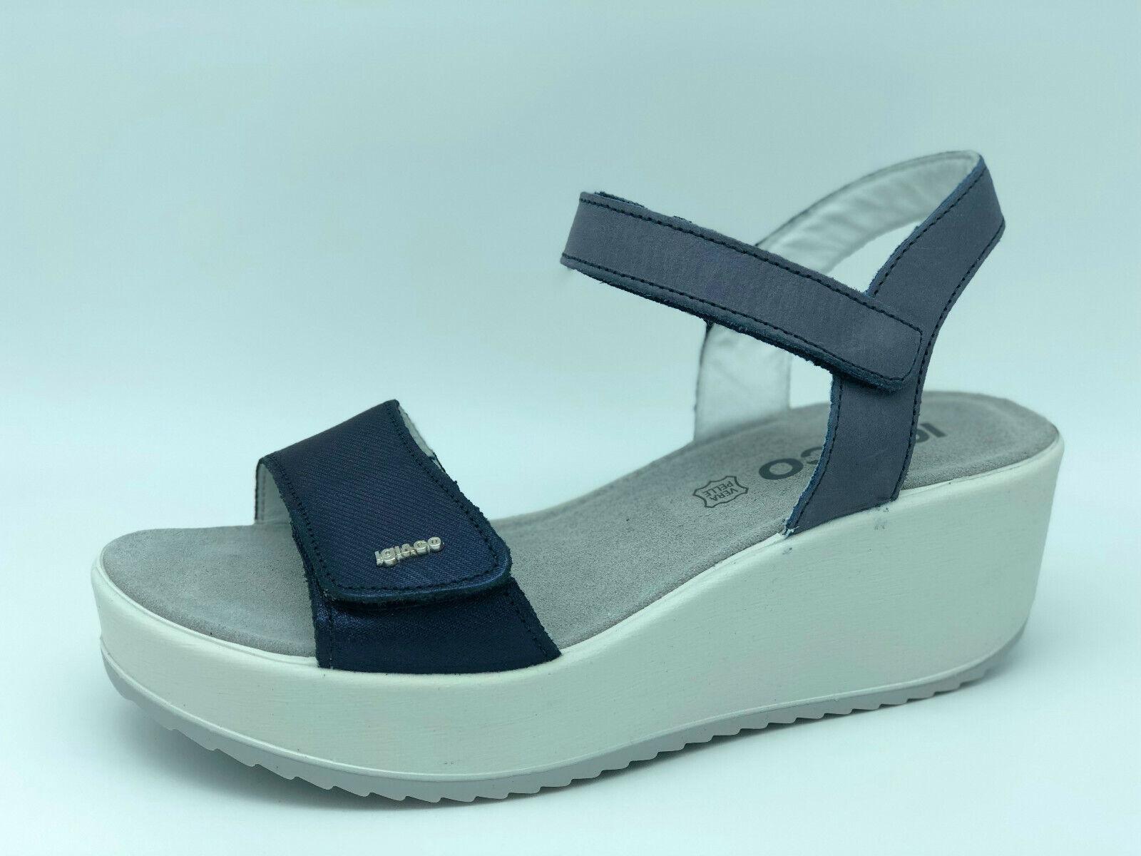 Sandals Tear igi&co 1176355 bluee Leather Wedge 6 cm