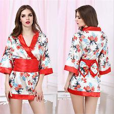 Costume Completino Fiori Rosso Arco Kimono Giapponese Cosplay Japanese Sexy