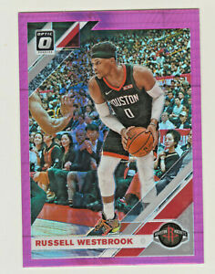 2019-20-Panini-Donruss-Optic-HYPER-PINK-PRIZM-58-RUSSELL-WESTBROOK-Rockets