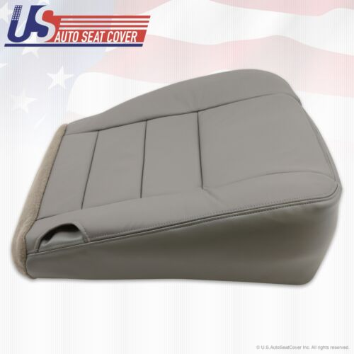 2002 2003 2004 Ford F350 Lariat Super Duty Driver Bottom Leather Seat Cover Gray