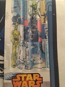 Details About Disney Star Wars Chewbacca Storm Trooper R2D2 C3PO Darth Vader Shower Curtain