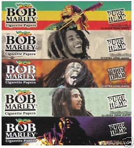 BOB-MARLEY-Kingsize-Pure-Hemp-Rolling-Papers-King-Size-Paper-Set-5-Packs