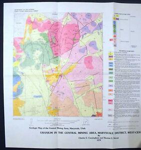 Marysvale Utah Map.Usgs Utah Uranium In Central Mining Area Marysvale District