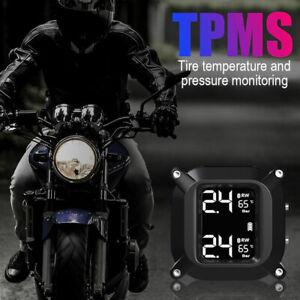 Waterproof-TPMS-Motorcycle-Tire-Pressure-Monitoring-System-2-External-Sensor-5V