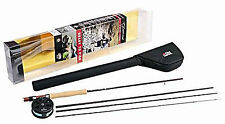 Abu Garcia Diplomat 9ft 904 LH 4 pezzi carbonio Fly Rod con mulinello combo 1132458