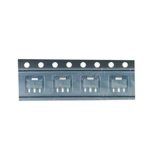 50pcs SOT-89 SMD L78L05 78L05 7805 Voltage Regulator 5V 100mA NEW