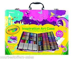Art Portfolio Case Pink Washable Crayola Art Kit Kids Craft Supplies Art Supply