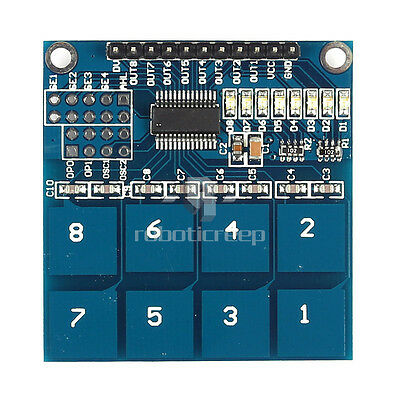 TTP226 8 Channel Digital Capacitive Switch Touch Sensor for Arduino UNO R3