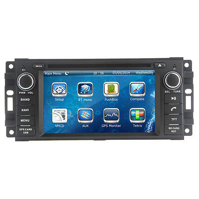 """2016 Double 2Din Car DVD CD Player 6.2"""" GPS Stereo Radio Fit for Jeep Wrangler"""