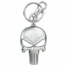 Marvel Comics NEW * Punisher Key Chain * Metal Skull Logo Keychain Clip Ring