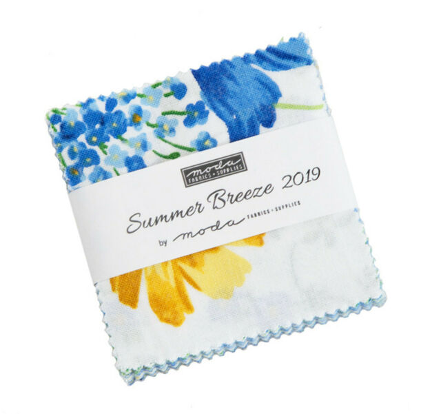 "Summer Breeze 2019 Moda Mini Charm Pack 42 100% Cotton 2.5"" Precut Quilt Squares"