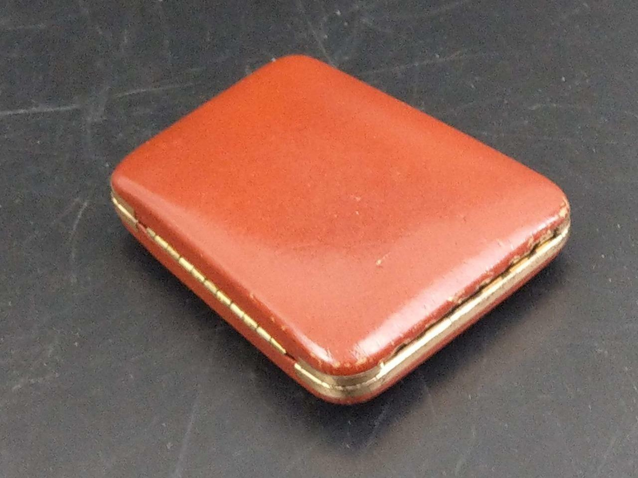 Leather Brown Key Shell Case Suede interior for 6 keys from 50's