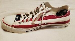 6f3f3e6a4b4c Converse Mens Shoes Sneakers Red White Blue Size 9 Chuck Taylor All ...