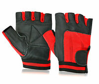 Weight Lifting Leather Gloves Body Building Fitness Gym Cycling Weelchair