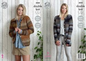 748d6d8a0 Image is loading King-Cole-5020-Knitting-Pattern-Womens-Raglan-Cardigans-