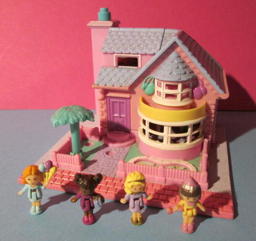 Polly Pocket Mini ♥ bay window House ♥ pollyville 100% completamente ♥ 1993 ♥ luz