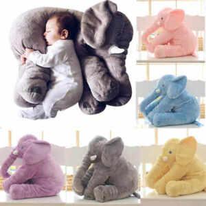 Grande-Peluche-Elephant-Bebe-Oreiller-Doudou-Jouet-Coussin-Enfant-Cadeau-Dormir