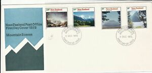 New zealand 1973 mountain scenes  fdc stamps cover ref 21452