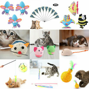 Multi-Funny-Pet-Cat-Kitten-Toy-Mouse-Teaser-Wand-Feather-Rod-Cat-Play-Toys-Lot