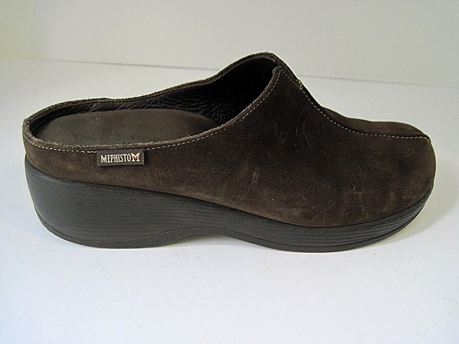 MEPHISTO Nature Is Future Brown Suede Clogs Slip-on shoes Mules Size US 8