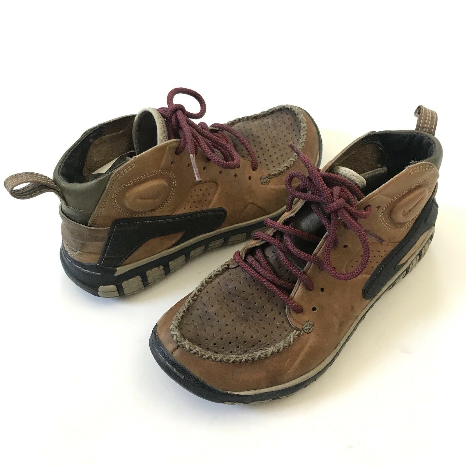 low priced 046a1 d5b76 ... shopping nike air mowabb moccasin mens us 6 leather moccasin mowabb toe  ankle sneaker 079b21 8588f