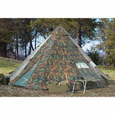 Camping Tent Teepee Tipi XL 10-12 Person Heavy Duty Waterproof Outdoor Camo