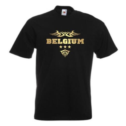 wms06-11a Pays Shirt Fanshirt Imprimé s-5xl T-Shirt BELGIQUE BELGIUM