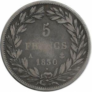 FRANCE-5-FRANCS-LOUIS-PHILIPPE-I-1830-A-TRANCHE-EN-RELIEF-TB