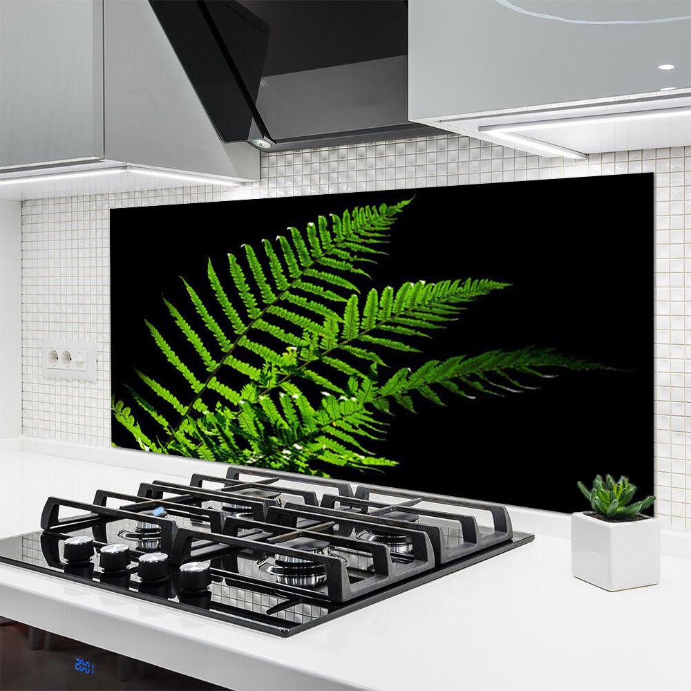 Crédence Crédence Crédence de cuisine en verre Panneau 140x70 Floral Feuilles ada580