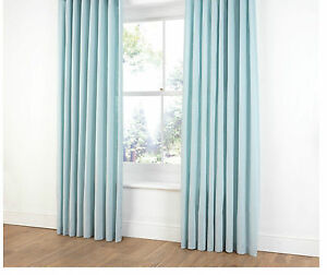 DUCK-EGG-BLUE-PLAIN-DYED-100-COTTON-SATIN-FULLY-LINED-CURTAINS-3-034-TAPE