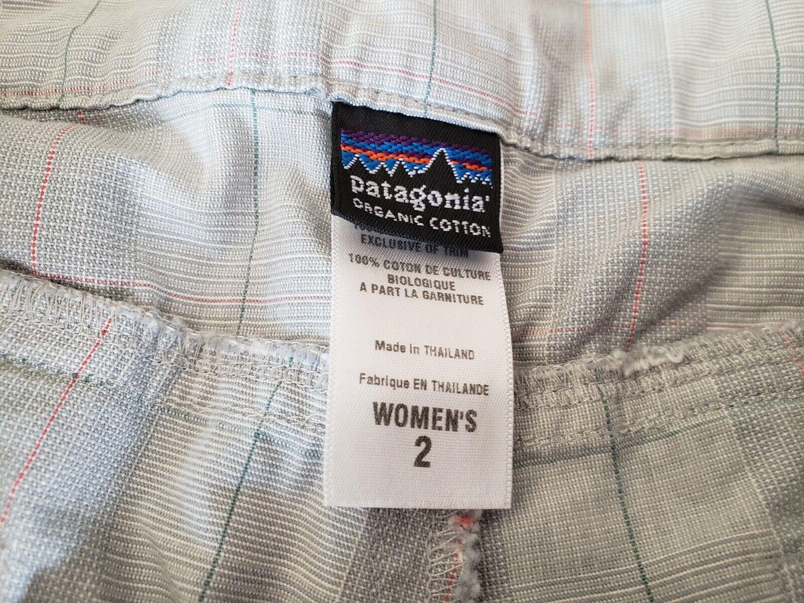 Patagonia ~ Women's Green Plaid Cropped Pants ~ S… - image 4