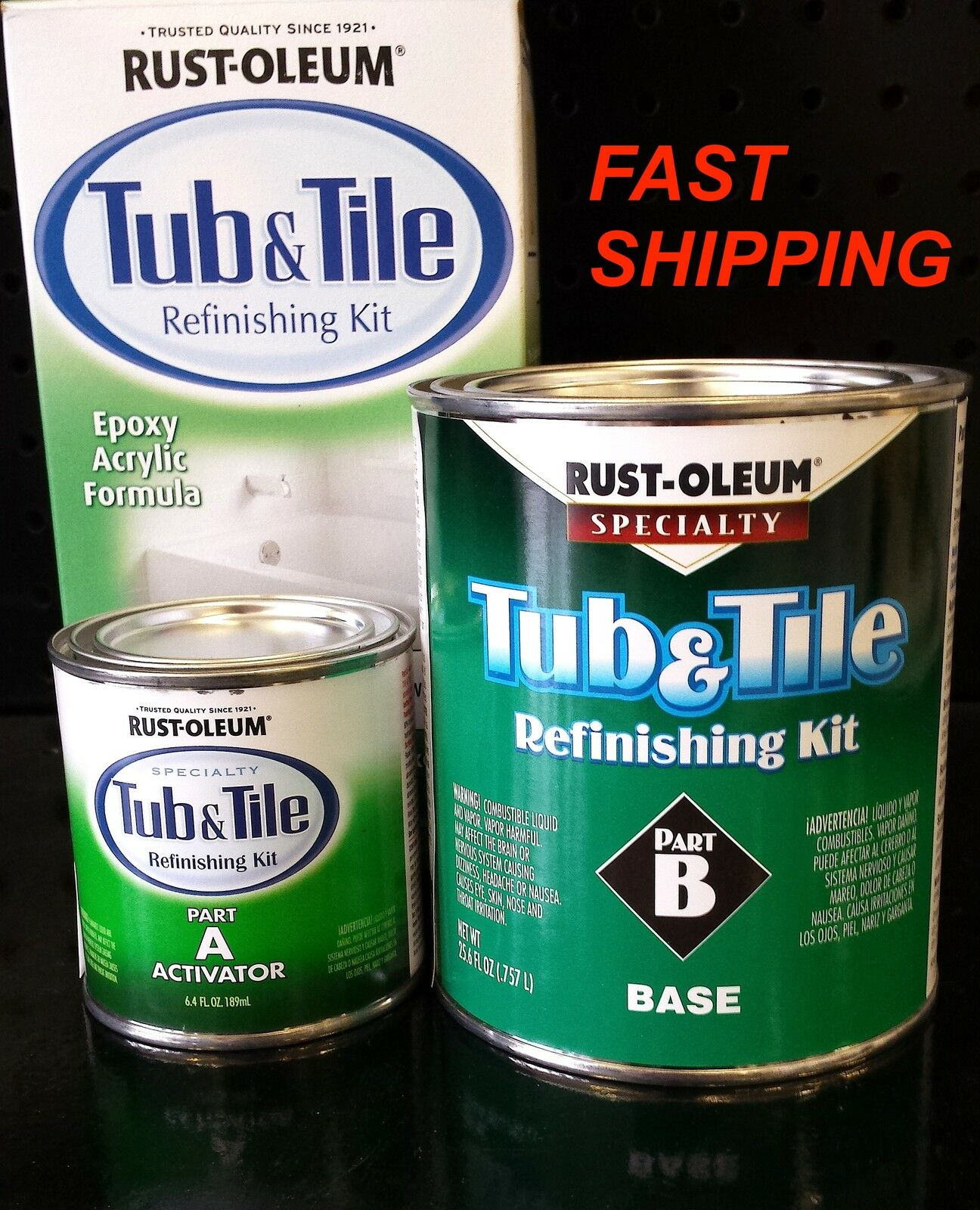 Rust-Oleum Tub & Tile Refinishing Kit - 946ml, White | eBay