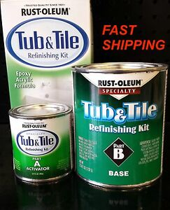 Image Is Loading RUSTOLEUM TUB Amp TILE WHITE REFINISHING PAINT KIT
