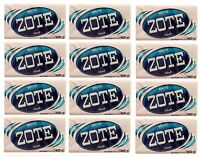 12 Pack Zote White Laundry Clothes Hand Delicate Wash Soap For Stains 14 Oz 400g