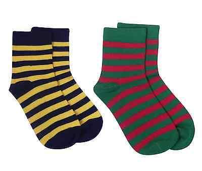 Rambutan Kids Striped Seamless Colorful Bamboo Socks US 13-2