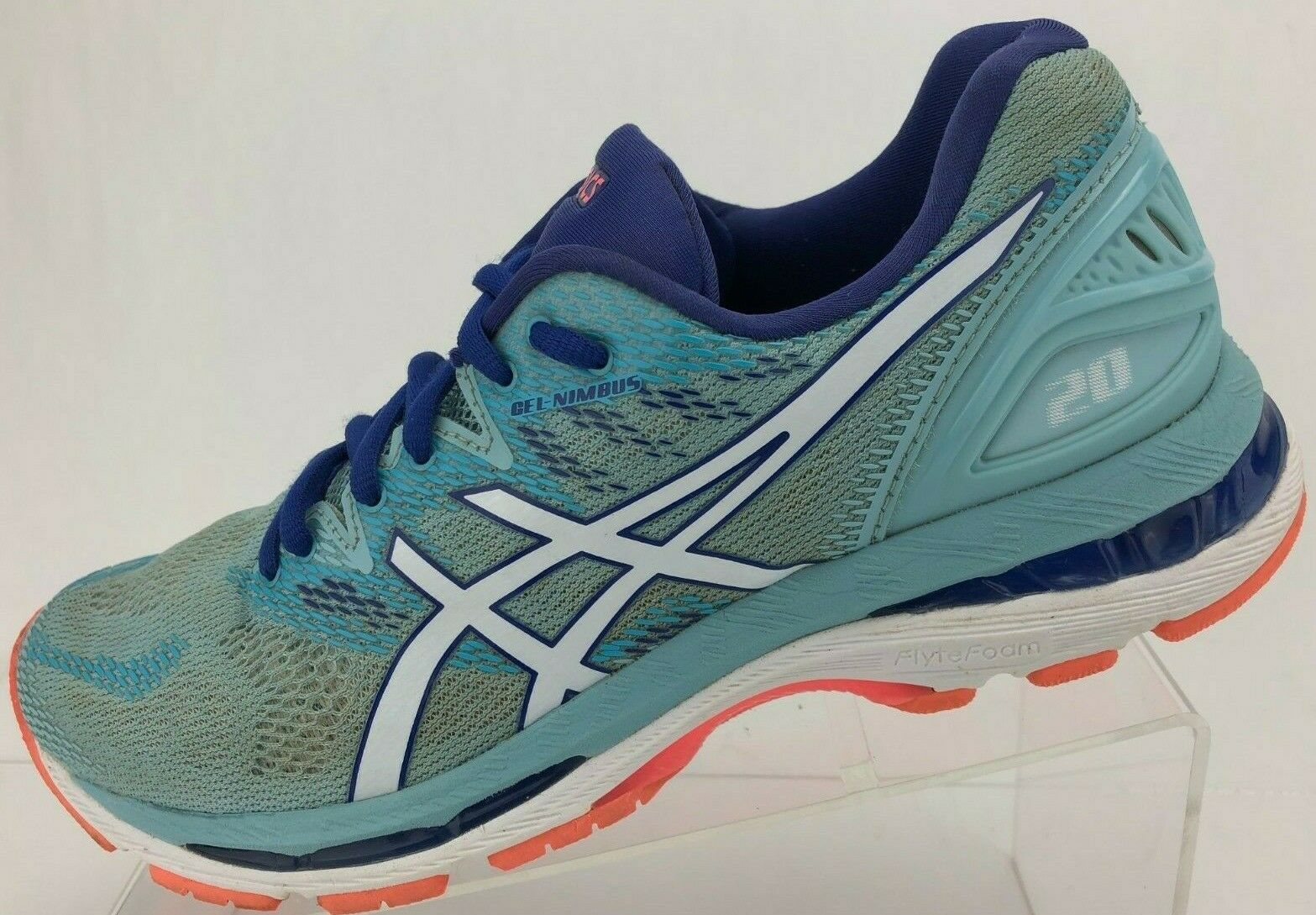 Asics Gel Nimbus 20 Running schuhe Blau Multi Farbe Training Turnschuhe damen 9.5