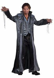 hombre-talla-unica-Mago-Abrigo-Largo-Disfraz-Disfraz-de-Halloween