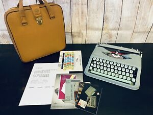 1960 Hermes Rocket Typewriter with Case And Manuals