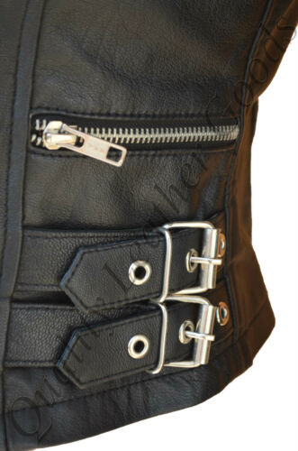 Details about  /FEMALE LADIES WOMAN QUILTED PREMIUM SHEEP LEATHER BIKER JACKET