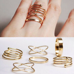 Charm-Unique-Ring-Set-Punk-Alloy-Knuckle-Rings-per-donna-6-PCS-Anelli-per-dit-GC