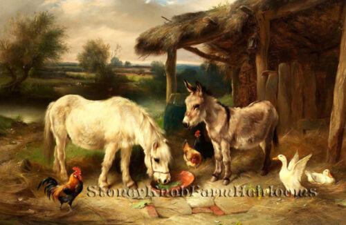Barnyard ~ DIY Counted Cross Stitch Pattern Chickens Pony Ducks Donkey