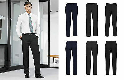 Biz Corporate Mens Adjustable Waist Pant 70114 | Cool Stretch, Office, Formal