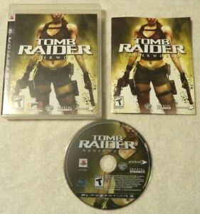 Tomb Raider: Underworld (Playstation 3, 2008) Disc Book Case - Free Shipping