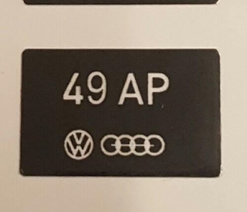 VW AUDI FUEL METERING HEAD STICKER QUATTRO B2 MK1 GTI MB WR SPORT GTE 49 AP