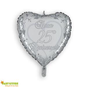 Palloncino anniversario 25 anni di matrimonio nozze d for Video anniversario 25 anni di matrimonio