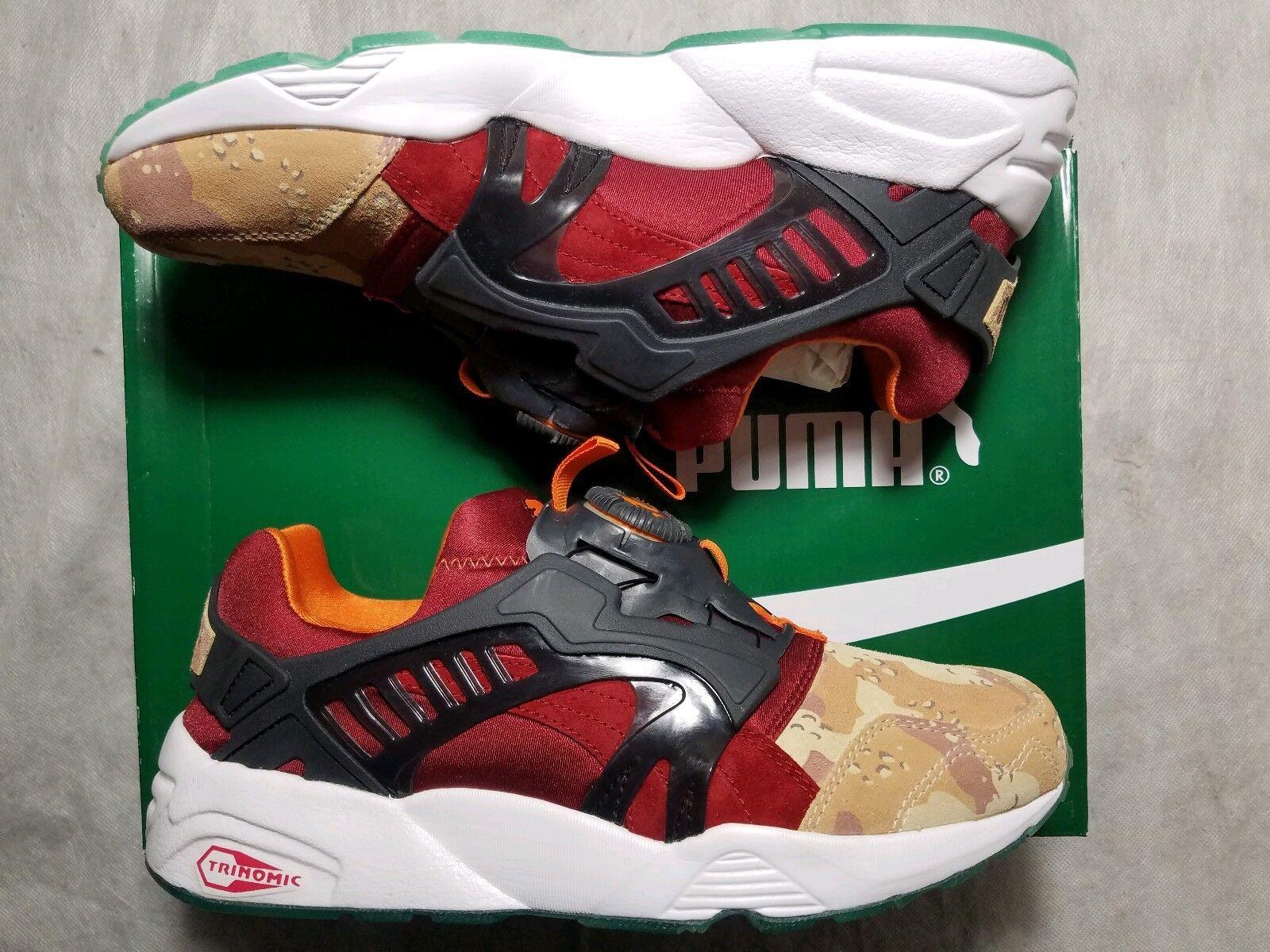 Puma Disc Blaze Desert Dusk Camo Atmos Titolo Men 8.5 Navy Red shoes 363063-01