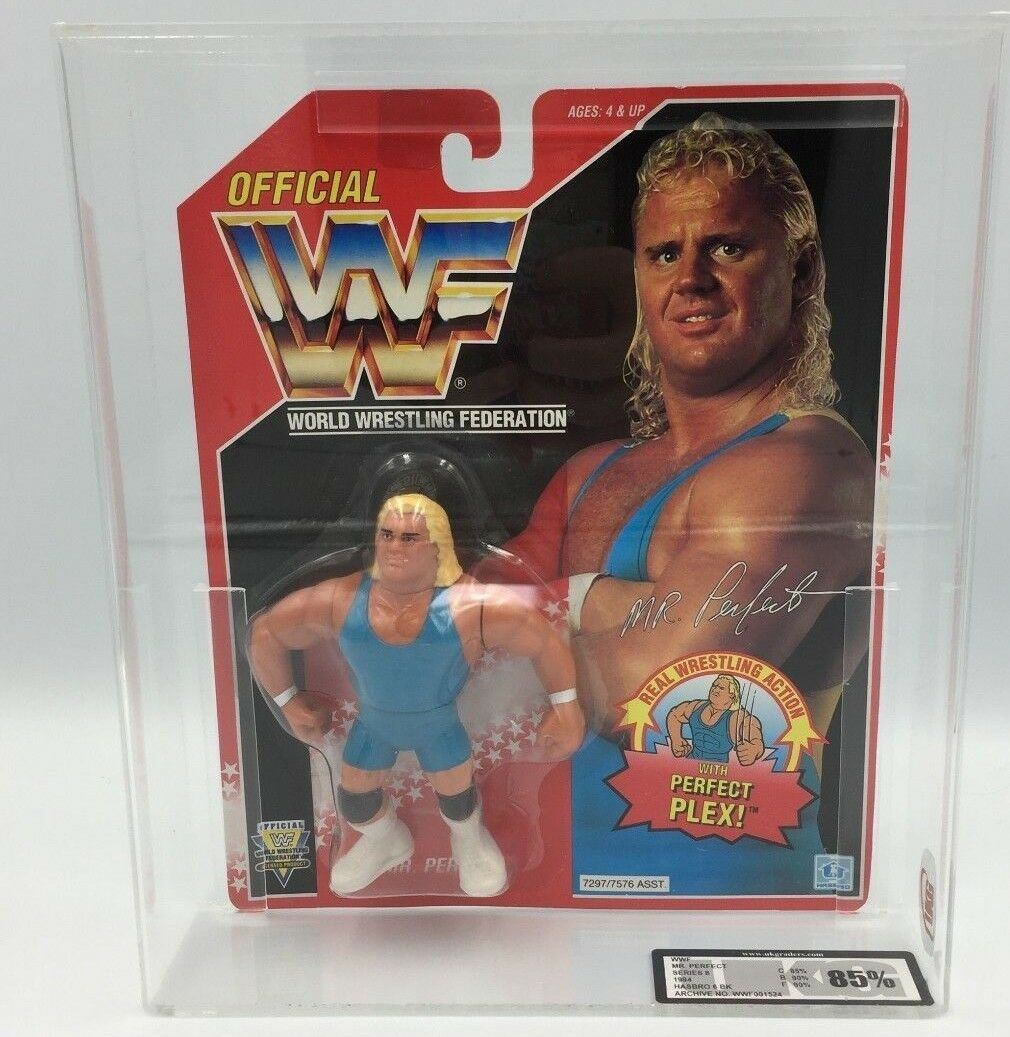 WWF Hasbro Mr Perfect Series 8 1994 Carded UKG 85% not AFA - RARE